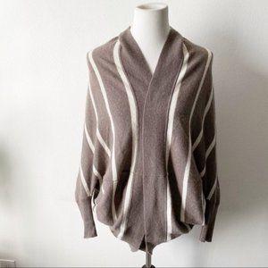 360 Cashmere Striped Shrug Sweater